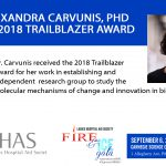 Dr. Anne-Ruxandra Carvunis receives 2018 Trailblazer Award